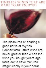 http://www.wynns.com.au/ - Wynns - Tasting Notes On Australian & New Zealand wines