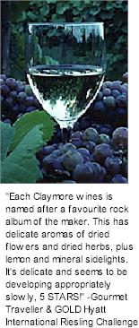 http://www.claymorewines.com.au/ - Claymore - Tasting Notes On Australian & New Zealand wines
