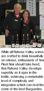 http://www.rahonavalley.com.au/ - Rahona Valley - Tasting Notes On Australian & New Zealand wines