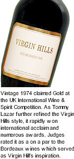 http://www.virginhills.com.au/ - Virgin Hills - Tasting Notes On Australian & New Zealand wines